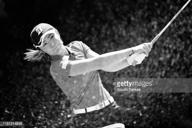 Ayaka Watanabe of Japan hits a tee shot on the 5th hole during the first round of the Chukyo TV Bridgestone Ladies Open at Chukyo Golf Club Ishino...