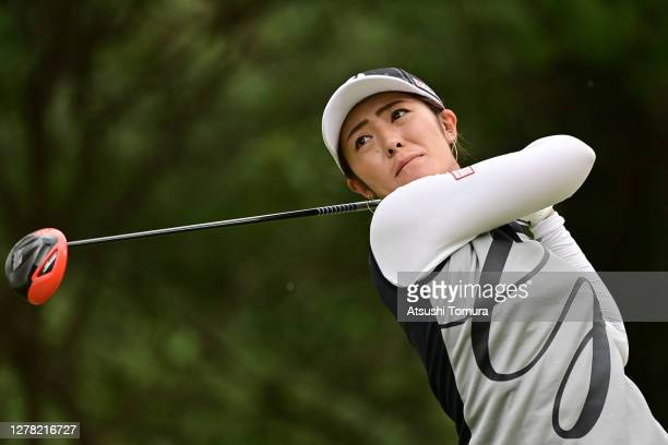 Ayaka Watanabe of Japan hits her tee shot on the 3rd hole during the third round of the Japan Women's Open Golf Championship at the Classic Golf Club...