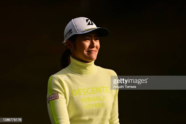 Ayaka Watanabe of Japan is seen on the 2nd hole during the third round of the Daio Paper Elleair Ladies Open at the Elleair Golf Club Matsuyama on...