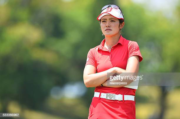 Ayaka Watanabe of Japan looks on during the final round of the Chukyo Television Bridgestone Ladies Open at the Chukyo Golf Club Ishino Course on May...