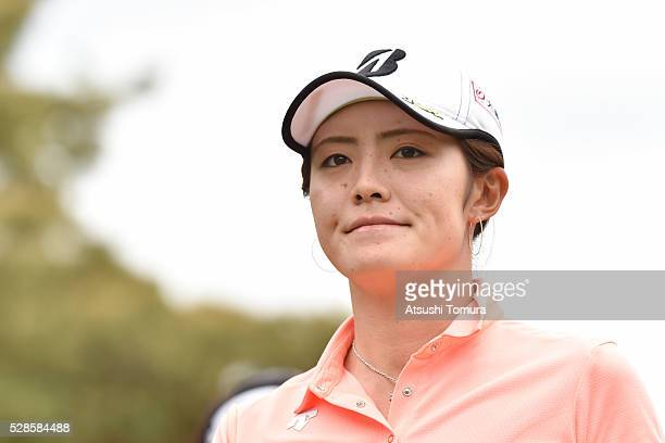 Ayaka Watanabe of Japan looks on during the second round of the World Ladies Championship Salonpas Cup at the Ibaraki Golf Club on May 6 2016 in...