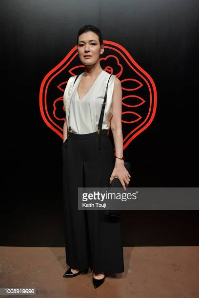 Ayako Suwa attends the Shiseido Makeup Tokyo Launch Event on August 1 2018 in Tokyo Japan