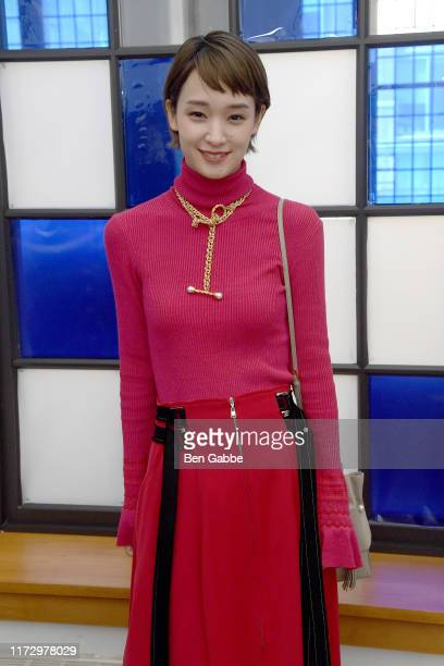 Ayame Goriki attends the Adeam Spring/Summer 2020 Show at West Edge on September 07 2019 in New York City