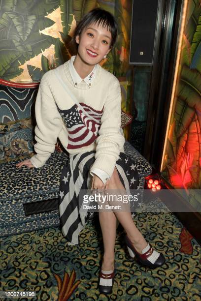 Ayame Goriki attends the TOMMYNOW after party at Annabels on February 16 2020 in London England