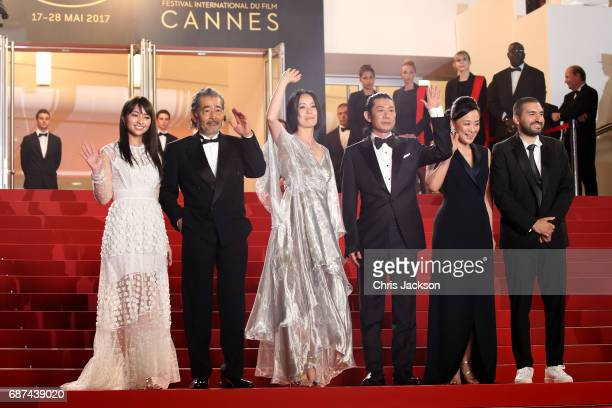 Ayame Misaki Tatsuya Fuji director Naomi Kawase Asatoshi Nagase Misuzu Kanno and guest attend the 'Hikari ' screening during the 70th annual Cannes...