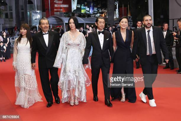 Ayame Misaki Tatsuya Fuji director Naomi Kawase Misuzu Kanno Misuzu Kanno and Ibrahim Maalouf attend the 'Hikari ' screening during the 70th annual...