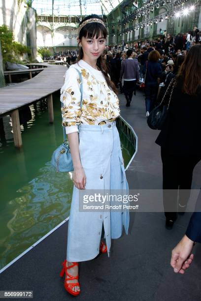 Ayami Nakajo attends the Chanel show as part of the Paris Fashion Week Womenswear Spring/Summer 2018 on October 3 2017 in Paris France