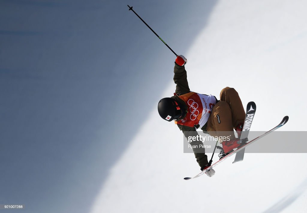 Ayana Onozuka of Japan competes during the Freestyle Skiing Ladies' Ski Halfpipe Final on day eleven of the PyeongChang 2018 Winter Olympic Games at Phoenix Snow Park on February 20, 2018 in Pyeongchang-gun, South Korea.
