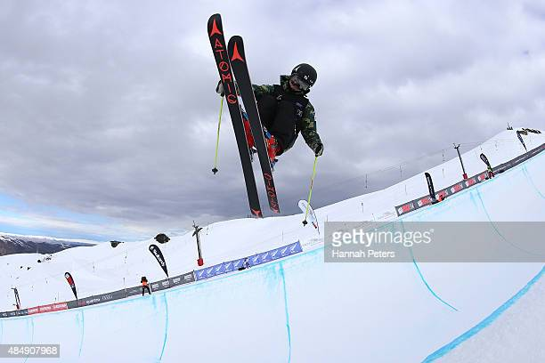 Ayana Onozuka of Japan competes in the FIS Freestyle Ski World Cup Halfpipe Finals during the Winter Games NZ at Cardrona Alpine Resort on August 23...
