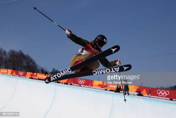 Ayana Onozuka of Japan during the women's Halfpipe Freestyle Skiing at Phoenix Snow Park on February 20 2018 in Pyeongchanggun South Korea