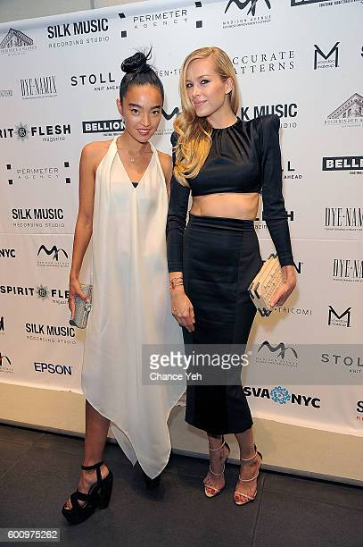 Ayanat Ksenbai and Petra Nemcova attend Language Of Fashion presented by the School of Visual Arts on September 8 2016 in New York City
