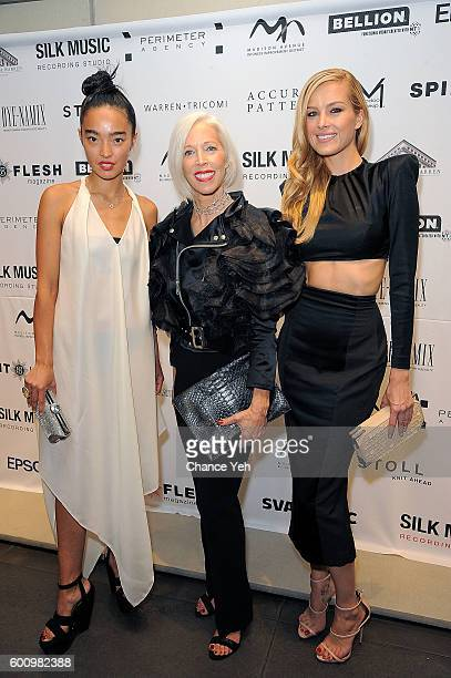 Ayanat Ksenbai Linda Fargo and Petra Nemcova attend Language Of Fashion presented by the School of Visual Arts on September 8 2016 in New York City