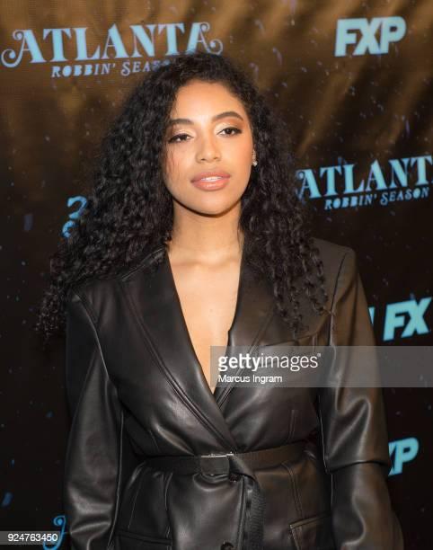 Ayanis attends the 'Atlanta Robbin' Season' Atlanta premiere at Starlight Six Drive on February 26 2018 in Atlanta Georgia