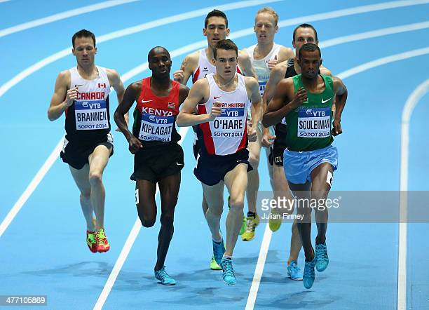 Ayanleh Souleiman of Djibouti, Chris O'Hare of Great Britain, Silas Kiplagat of Kenya and Nathan Brannen of Canada compete during the Men's 1500m...