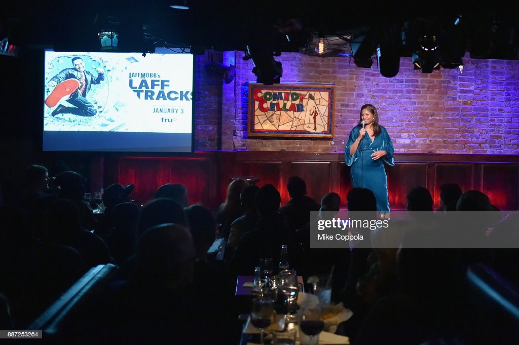 Ayanna Dookie performs onstage during truTV's Laff Mobb's Laff Tracks comedy show at The Village Underground on December 6, 2017 in New York City. (Photo by Mike Coppola/Getty Images for truTV) 27506_001