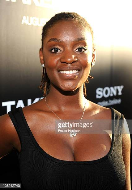 Ayanna 'Yani' Berkshire arrives at Screen Gems' 'Takers' premiere at Arclight Cinema Cinerama Dome on August 4 2010 in Hollywood California