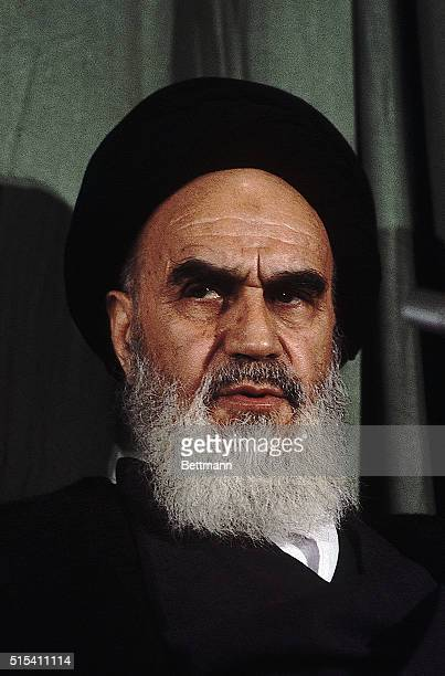 Ayatollah Khomeini in Tehran Iran after his return from exile in France
