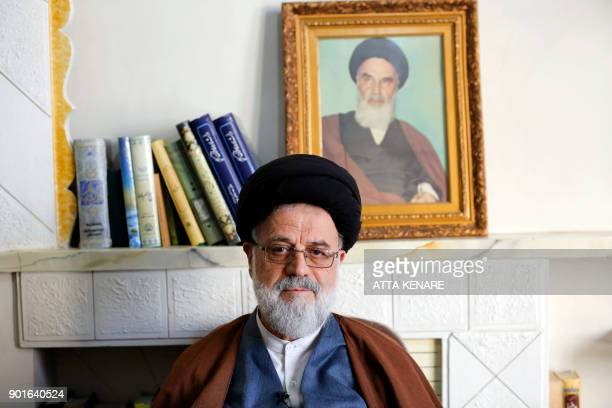 Ayatollah Seyyed Hossein Moussavi Tabrizi a former chief prosecutor and twotime parliamentarian poses for a picture during an interview with AFP in...