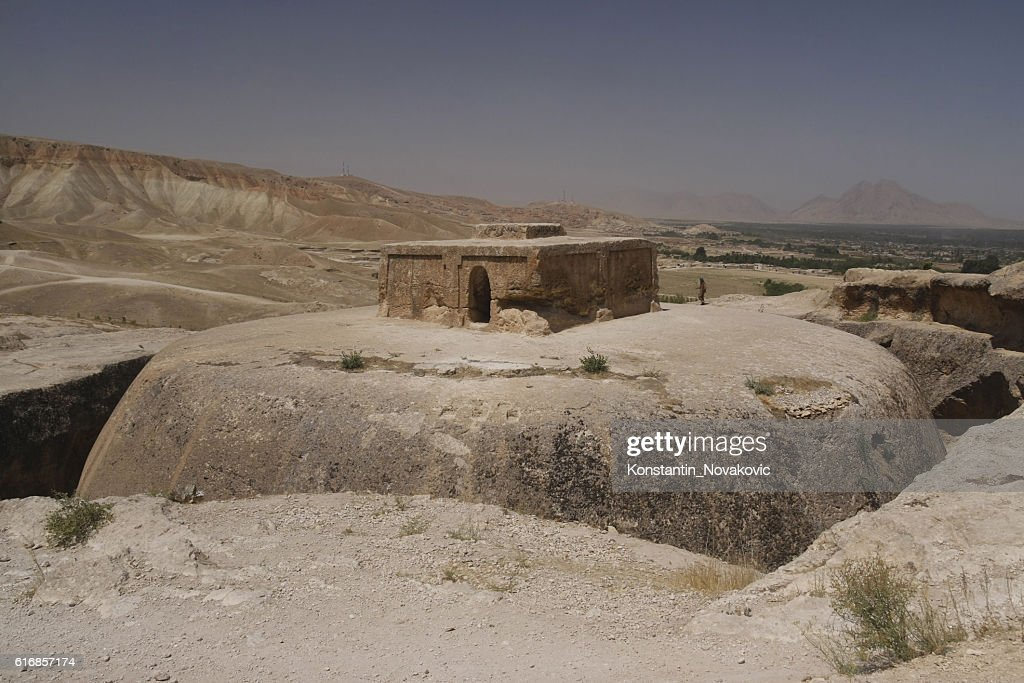 Aybak Buddisht stupa in Afghanistan : Stock Photo