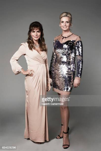 Ayda Field and Penny Lancaster attend the National Television Awards - Portrait Studio at The O2 Arena on January 25, 2017 in London, England.