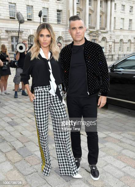 Ayda Field and Robbie Williams attend the X Factor 2018 Show launch at Somerset House on July 17 2018 in London England