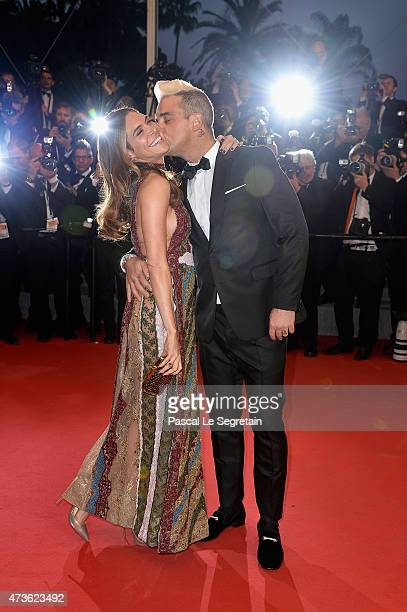 Ayda Field and Robbie Williams attends the Premiere of 'The Sea Of Trees' during the 68th annual Cannes Film Festival on May 16 2015 in Cannes France