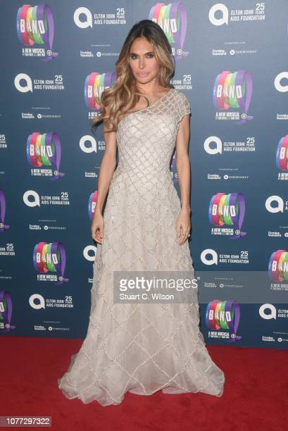 Ayda Field attends a charity gala performance of The Band in aid of the Elton John AIDS Foundation at Theatre Royal Haymarket on December 04 2018 in...