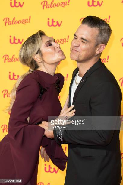 Ayda Williams and Robbie Williams attend the ITV Palooza held at The Royal Festival Hall on October 16 2018 in London England