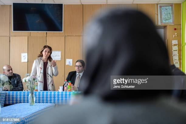 Aydan Ozoguz German Federal Commissioner for Immigration Refugees and Integration visits the Muslim cultural center and mosque following a recent...