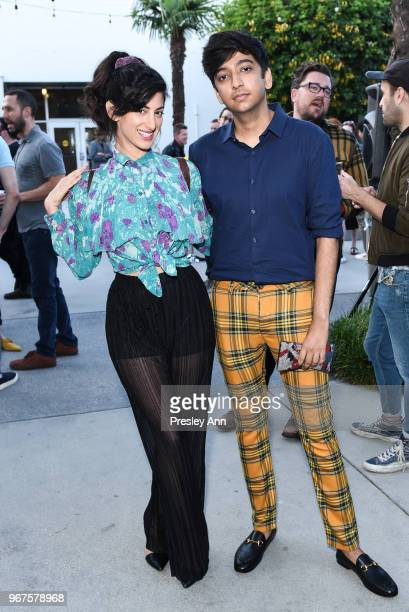Ayden Mayeri and Nik Dodani attend Special Screening And QA For Netflix's 'Alex Strangelove' at Los Angeles LGBT Center on June 4 2018 in Los Angeles...