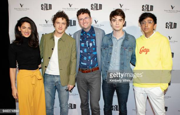 Ayden Mayeri Antonio Marziale Craig Johnson Daniel Doheny and Nik Dodani attend the 'Alex Strangelove' red carpet premiere during 2018 SFFILM at...