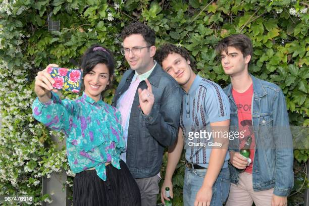 Ayden Mayeri Craig Johnson Antonio Marziale and Daniel Doheny attend a special screening of the Netflix film Alex Strangelove at the Los Angeles LBGT...