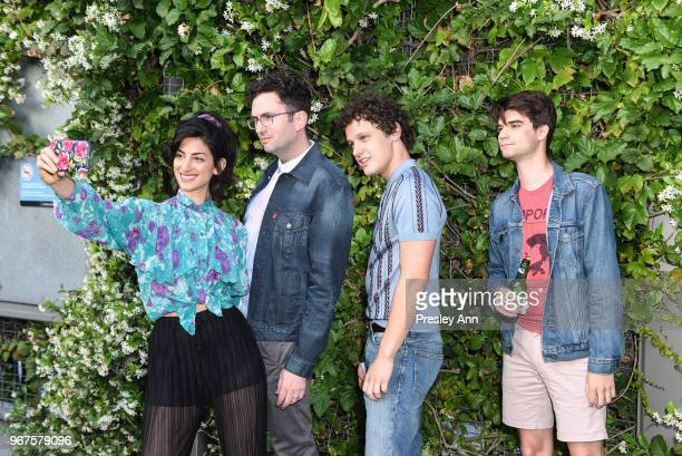 Ayden Mayeri Craig Johnson Antonio Marziale and Daniel Doheny attend Special Screening And QA For Netflix's 'Alex Strangelove' at Los Angeles LGBT...