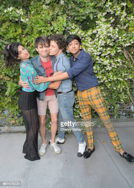 Ayden Mayeri Daniel Doheny Antonio Marziale and Nik Dodani attend a special screening of the Netflix film Alex Strangelove at the Los Angeles LBGT...