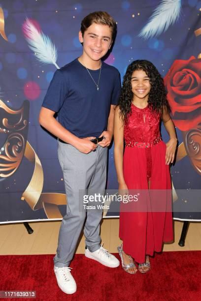 Ayden Mekus and Akyra Alihaah attend Akyra Alihaah's 10th Birthday on September 01 2019 in Los Angeles California