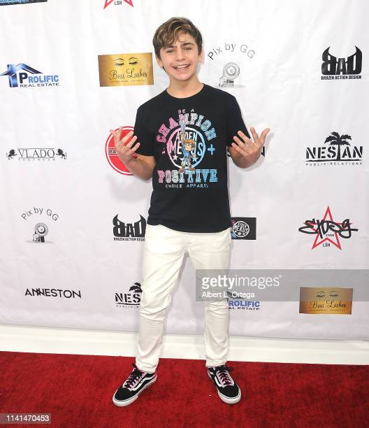 Ayden Mekus arrives for Party Scene Presentation of May The 4th Be With You held at Starwest Studios on May 4 2019 in Burbank California