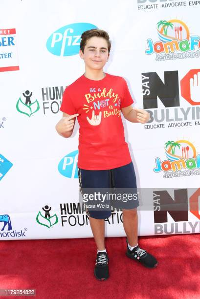 Ayden Mekus attends the 4th Annual Say NO Bullying Festival at Griffith Park on October 05 2019 in Los Angeles California