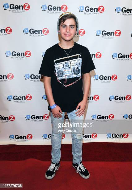 Ayden Mekus attends the ConnectHer Media's Launch Party for the Gen Z Girls X Gen Z Guys Influencer Brand on October 19 2019 in Garden Grove...