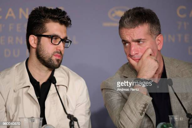 Aydin Dogu Demirkol and Murat Cemcir attends Ahlat Agaci Press Conference during the 71st annual Cannes Film Festival at Palais des Festivals on May...