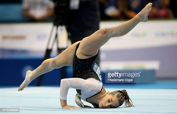 floor gymnastics. Simple Gymnastics Ayelen Tarabini Of Argentina Competes On The Floor During Day Two  Gymnastics World Challenge Throughout 7