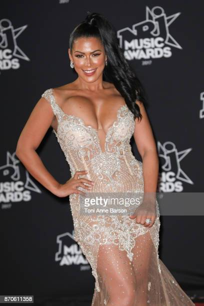 Ayem Nour arrives at the 19th NRJ Music Awards ceremony at the Palais des Festivals on November 4 2017 in Cannes France