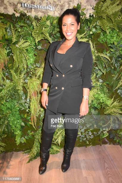 Ayem Nour attend ConceptStore HapsatouSy/Maison 123 Launch Party at Maison 123 rue Chausee d'Antin on September 19, 2019 in Paris, France.