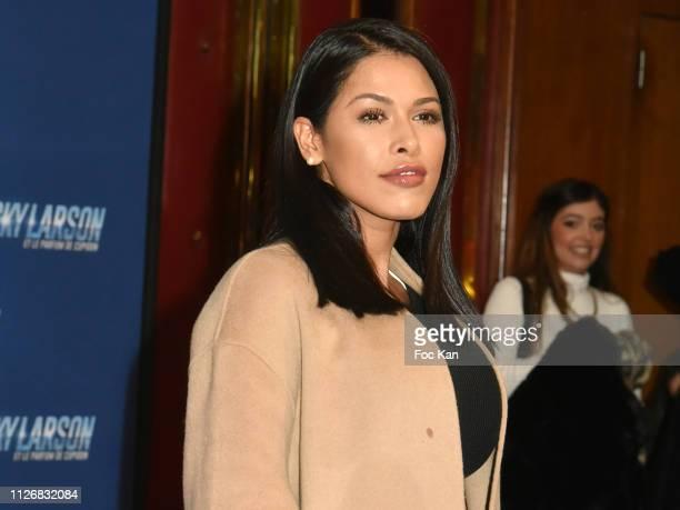 Ayem Nour attends Nicky Larson Et Le Parfum de Cupidon Premiere At Le Grand Rex on February 1 2019 in Paris France