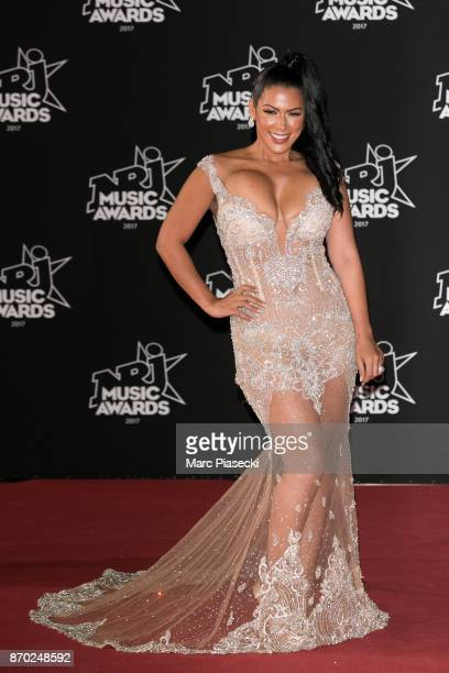 Ayem Nour attends the 19th 'NRJ Music Awards' ceremony on November 4, 2017 in Cannes, France.