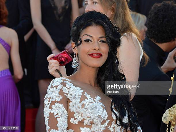 Ayem Nour attends the 'How To Train Your Dragon 2' premiere during the 67th Annual Cannes Film Festival on May 16, 2014 in Cannes, France.