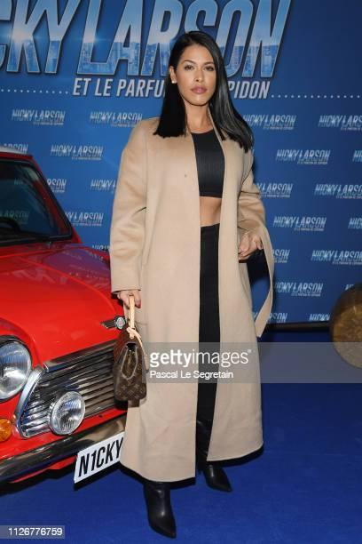 """Ayem Nour attends The """"Nicky Larson Et Le Parfum De Cupidon"""" Premiere February 01, 2019 in Paris, France."""