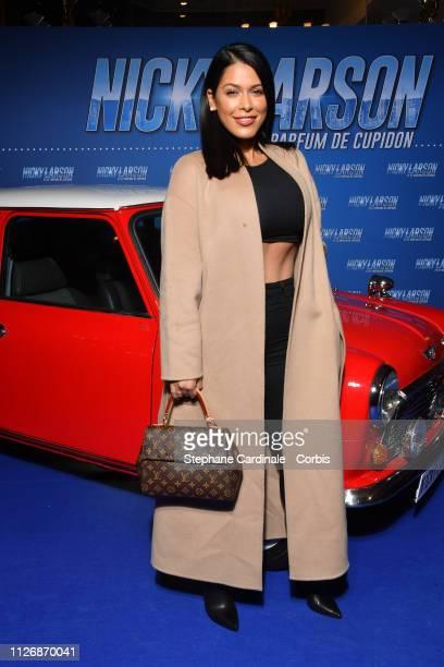 Ayem Nour attends The Nicky Larson Et Le Parfum De Cupidon Premiere February 01 2019 in Paris France