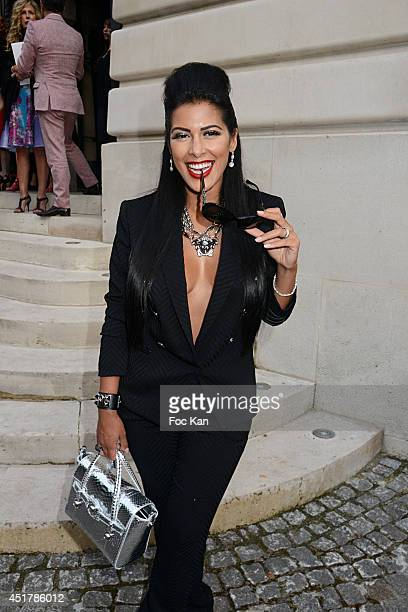 Ayem Nour attends the Versace show as part of Paris Fashion Week Haute Couture Fall/Winter 20142015 on July 6 2014 in Paris France