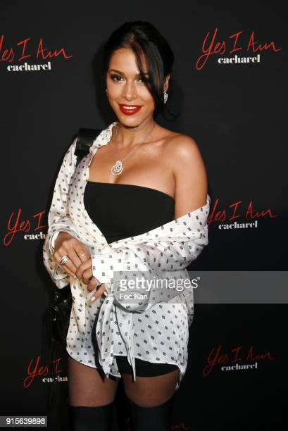 Ayem Nour attends the Yes I Am Cacharel Flagrance Launch Party at the QG on February 7 2018 in Paris France