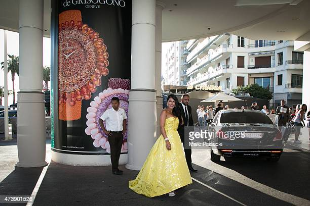 Ayem Nour is seen at the Grand Hyatt Cannes Hotel Martinez during the 68th annual Cannes Film Festival on May 18, 2015 in Cannes, France.